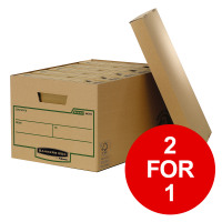 Bankers Box by Fellowes Earth Storage Box Large FSC Ref 4470701 [Pack 10] [2 for 1] Jan-Mar 2019