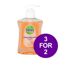 Dettol Handsoap Antibacterial Moistening Grapefruit 250ml Ref 8071864 [3 For 2] May 2019