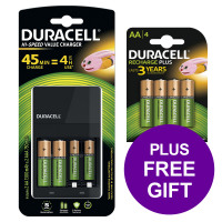 Duracell Battery Charger Hi Speed for AA/AAA Ref 81528873 [FREE AA Battery Pack 4] Apr-Jun 2019