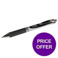 Pentel EnerGel XM Retractable 0.7mm Tip 0.35mm Line Black Ref BL77-A [Pack 12] [Price Offer] Apr-Jun 2019