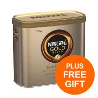 Nescafe Gold Blend Instant Coffee Granules Tin 750g Ref 12339209 [Pack 2] [Plus 3x Randoms] Jul-Sept 19