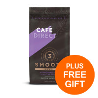 Cafe Direct Smooth Fairtrade Roast and Ground Coffee 227g Ref FCR0002 [Pack 2][Free Chocs] Jul-Sept 19