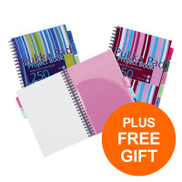 Pukka Pad Project Book Wirebound 5-Divider 250pp A4 Assorted RefPROBA4[Pack 3][Free Haribo Bag]Jul-Sep 19