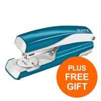 Leitz NeXXt WOW Stapler 3mm 30 Sht Blu Ref 55021036L [FREE LEITZ NeXXt WOW BLU HOLE PUNCH] Jul-Sept 2019