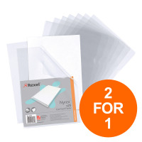 Rexel Nyrex Folder Cut Flush A4 Clear Ref 12153 [Pack 25] [2 For 1] Jul-Sept 2019