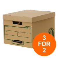 Fellowes Bankers Box Earth Series Hvy Duty Standard Box FSC Ref 4479901 [Pack 10] [3 For 2] Jul-Sept 2019