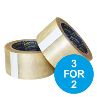 Sellotape Vinyl Packaging Tape 50mmx66m Clear Ref 1445488 [Pack 6] [3 for 2] Oct-Dec 19