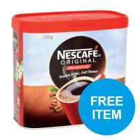 Nescafe Original Instant Coffee Tin 750g Ref 12315566 [Buy 2 get Free Quaility Street Tin] Oct-Dec 2019