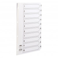 Concord Classic Index 1-10 Mylar-reinforced Punched 4 Holes 150gsm A4 White Ref 00901/CS9