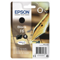 Epson 16 Inkjet Cartridge Pen & Crossword Page Life 175pp 5.4ml Black Ref C13T16214012