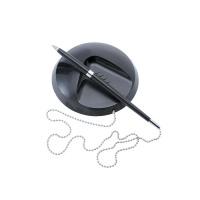5 Star Office Desk Ball Pen Chained to Base Medium 1.0mm Tip 0.5mm Line Black