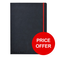 Black By Black n Red Business Journal Hard Cover Ruled and Numbered 144pp A4 Ref 400038675 [PRICE OFFER]