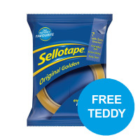 Sellotape Original Golden Tape Roll Non-static Easy-tear Large 24mmx66m Ref 1443306 [Pack 6]