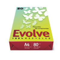 Evolve Everyday Paper Recycled Ream-Wrapped 80gsm A4 White Ref EVOL80A4 [500 Sheets]