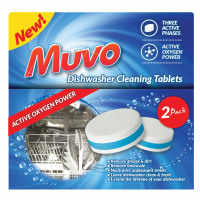 Muvo Dishwasher Machine Cleaning Tablets Ref MDWCT2PK [Pack 2]