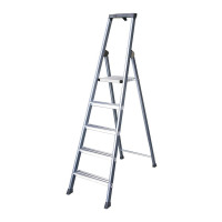 Aluminium Ladder 5 Tread Extra Deep