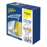 Sellotape Removable Hook and Loop Strip 20mm x 6m