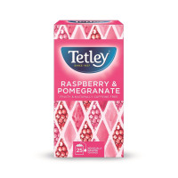 Tetley Individually Enveloped Tea Bags Raspberry and Pomegranate Infusion Ref 1580a [Pack 25]