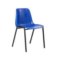 Trexus Visitor Chair Stackable Pre-assembled Polypropylene Blue Ref 134581