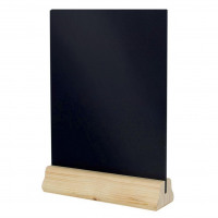 Table Chalkboard Double Sided Chalk Panels Wooden A4 W310xD230xH60mm Black