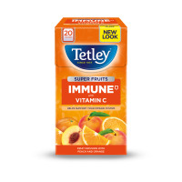 Tetley Super Fruits Tea IMMUNE Peach & Orange with Vitamin C Ref 4610A [Pack 20]