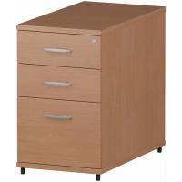 Trexus Desk High 3 Drawer 800D Pedestal 425x800x730mm Beech Ref I000071