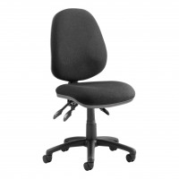 TrexusP 3 Lever High Back Asynchronous Chair Black 500x450x450-570mm Ref OP000082