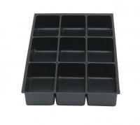 Bisley Insert Tray 2/9 Plastic for Storage Cabinet 9 Sections H51mm Black Ref 226P1