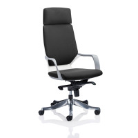 Adroit Xenon White Shell Head Rest Chair Black 520x470x450-535mm Ref KC0226