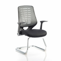 Sonix Relay Mesh Visitors Chair Silver 500x490x440mm Ref BR000118