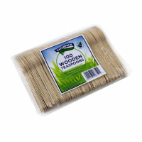 Robinson Young Natural Birchwood Tea Spoons Ref 10570 [Pack 100]
