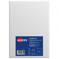 Avery Labels Standard Removable A3 White Ref A3L001-10 [Pack 10]
