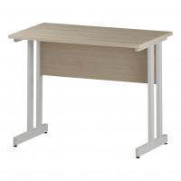 Trexus Rectangular Slim Desk White Cantilever Leg 1000x600mm Maple Ref I002426