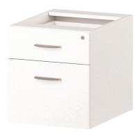 Trexus 2 Drawer Fixed Pedestal 426x463x480mm White Ref I001642