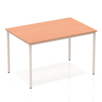 Trexus Rectangular Box Frame Silver Leg Table 1200x800mm Beech Ref BF00102