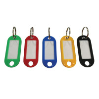 5 Star Facilities Key Hanger Fob Label 50x22mm Assorted [Pack 20]