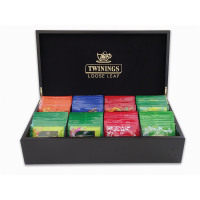 Twinings Wooden Tea Box Deluxe 8 Compartments Black Ref 0403314