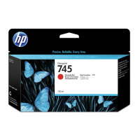 Hewlett Packard [HP] No.745 DesignJet Ink Cartridge Chromatic Red 130ml Ref F9K00A *3to5 Day Leadtime*