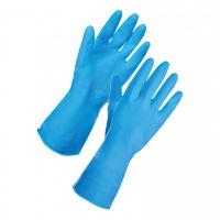 Supertouch Household Latex Gloves Medium Blue Ref 13312 [Pair]