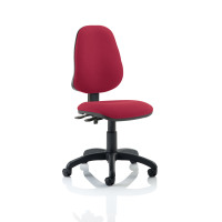 Trexus 2 Lever High Back Permanent Contact Operators Chair Red 480x450x490-590mm Ref OP000030