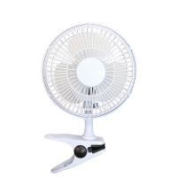 5 Star Facilities Clip-On Fan 6 Inch with Tilt for Desk or Shelf 2-Speed 1.25-1.3m Cable Dia.152mm White