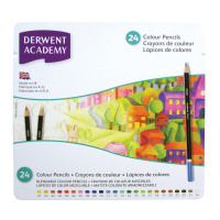 Derwent Academy Colouring Pencils High -quality Pigments Assorted Ref 2301938 [Pack 24]