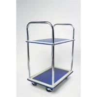 5 Star Facilities Trolley Lightweight Steel Frame 2 Shelf Capacity 120kg Chrome W470xD725xH950mm