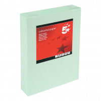 5 Star Office Coloured Copier Paper Multifunctional Ream-Wrapped 80gsm A4 Light Green [500 Sheets]