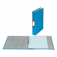 5 Star Office Ring Binder 2 O-Ring Size 25mm Paper on Board A4 Blue [Pack 10]