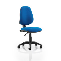Trexus 1 Lever High Back Permanent Contact Chair Blue 480x450x460-580mm Ref OP000159