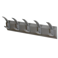 Acorn Hat and Coat Wall Rack with Concealed Fixings 5 Hooks 600x50x120mm Graphite Ref 319875