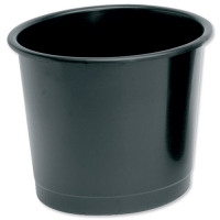 5 Star Office Waste Bin Polypropylene 14 Litre Capacity 304x254mm Black