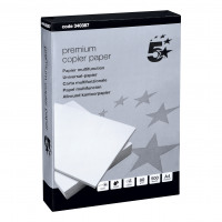 5 Star Elite Premium Copier Paper Smooth Ream-Wrapped 80gsm A4 White [500 Sheets]