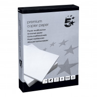 5 Star Elite Premium Copier Paper Smooth Ream-Wrapped 80gsm A4 White [5 x 500 Sheets]